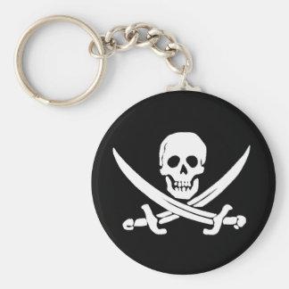 Jolly Roger Sword Pirate Keychain Basic Round Button Keychain