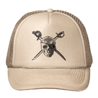Jolly Roger Swords Trucker Hats