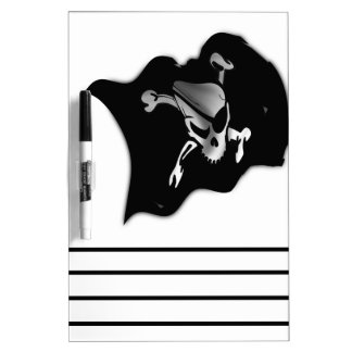 Jolly Roger Waving Pirate Flag Dry Erase Board