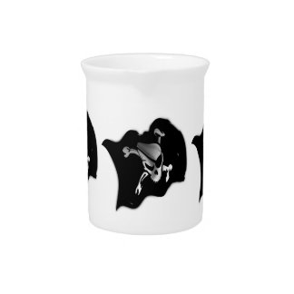 Jolly Roger Waving Pirate Flag Drink Pitchers