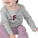 Jolly roger with red bandana tshirt