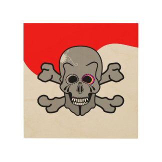Jolly Roger Wood Print