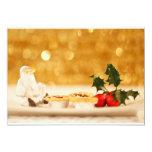 "Jolly Santa 5"" X 7"" Invitation Card"