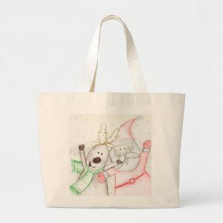 JOLLY SANTA AND REINDEER BAG