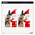 Jolly Santa and Reindeer Skins For Kindle Fire