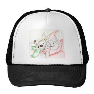JOLLY SANTA AND REINDEER TRUCKER HAT