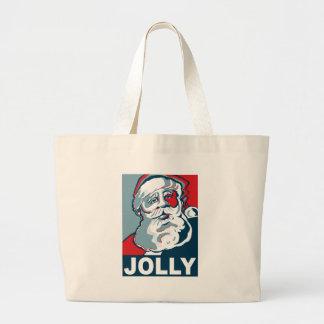Jolly Santa Canvas Bags