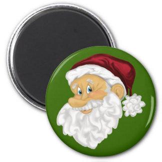 Jolly Santa Christmas holiday fridge magnet