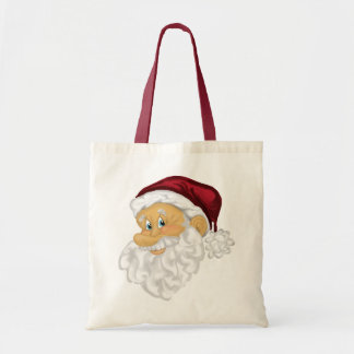 Jolly Santa Christmas holiday tote bag