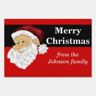 Superb Jolly Santa Christmas Holiday Yard Sign