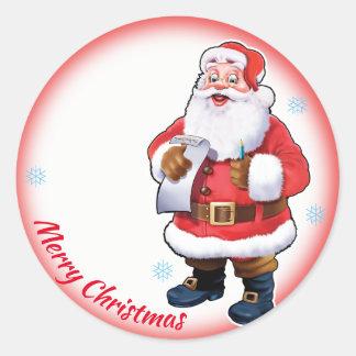 Jolly Santa Christmas sheet of stickers
