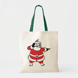 Jolly Santa Claus Calling His Reindeer, Part 3 Canvas Bags