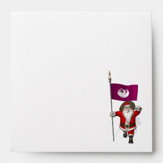 Jolly Santa Claus Coming To Phoenix Envelope