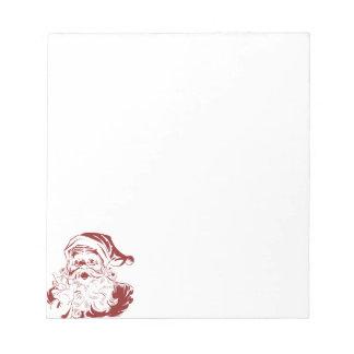 Jolly Santa Claus in Red Fun Retro Merry Christmas Notepad