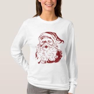 Jolly Santa Claus in Red Fun Retro Merry Christmas T-Shirt