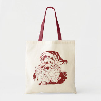 Jolly Santa Claus in Red Fun Retro Merry Christmas Tote Bag