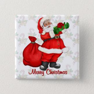 Jolly Santa Claus Pinback Button
