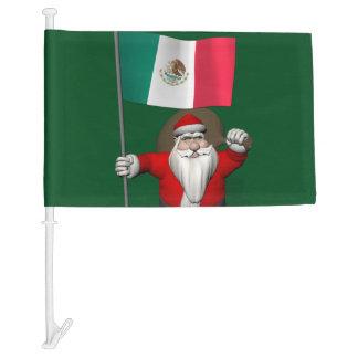 Jolly Santa Claus Visiting Mexico Car Flag