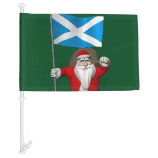 Jolly Santa Claus With Flag Of Scotland