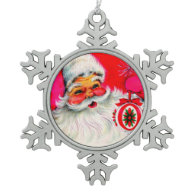 Jolly Santa Claus with Red Ornament