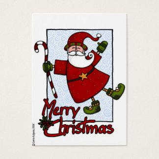 jolly santa gift tag