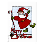 jolly santa gift tag business card