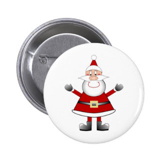 Jolly Santa Pinback Button