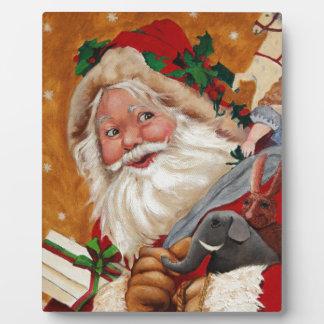 Jolly Santa Plaque