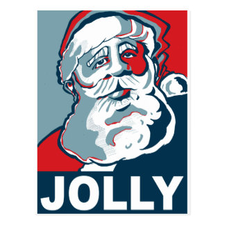 Jolly Santa Postcard