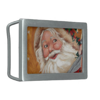 Jolly Santa Rectangular Belt Buckle