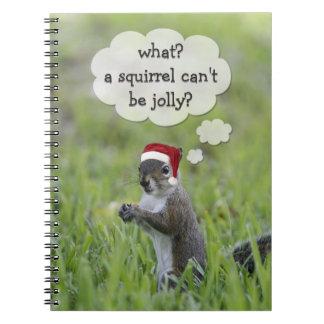 Jolly Santa Squirrel Fun Christmas Holiday Notebook