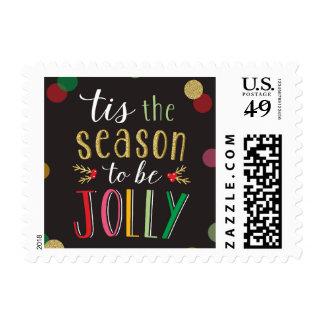 Jolly Season Christmas Holiday Postage