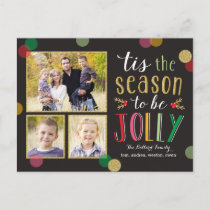 Jolly Season Holiday Photo Card Postcard