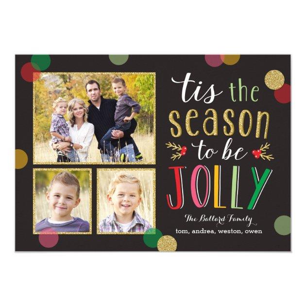 Jolly Season Holiday Photo Cards
