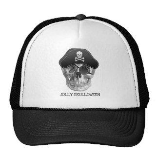 JOLLY SKULLOWEEN HALLOWEEN PIRATE SKULL PRINT HAT