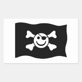 Jolly Smiley Rectangular Sticker