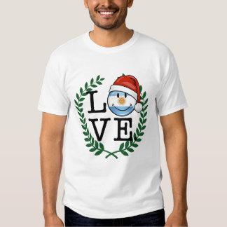 Jolly Smiling Argentina Flag Holiday Tee Shirt