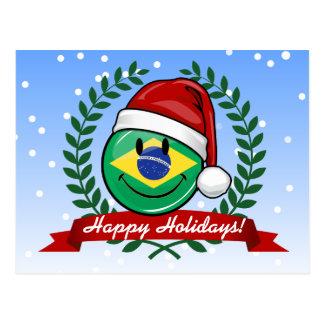 Funny brazilian postcards zazzle jolly smiling brazilian flag christmas style postcard m4hsunfo