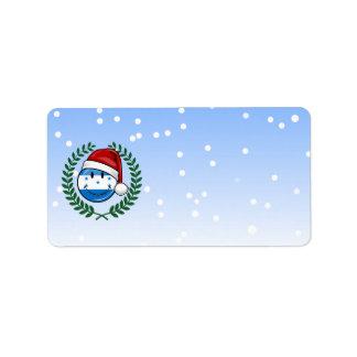 Jolly Smiling Christmas Style Honduran Flag Label