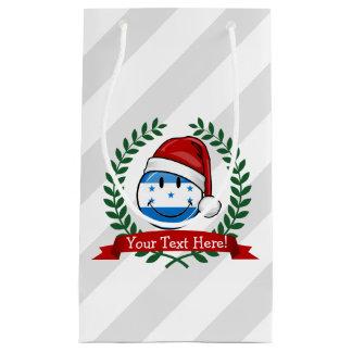 Jolly Smiling Christmas Style Honduran Flag Small Gift Bag