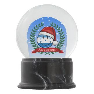 Jolly Smiling Christmas Style Honduran Flag Snow Globe