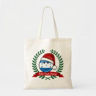Jolly Smiling Christmas Style Honduran Flag Tote Bag
