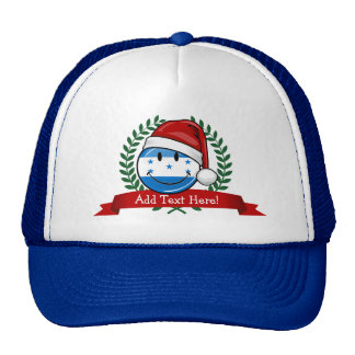 Jolly Smiling Christmas Style Honduran Flag Trucker Hat