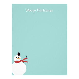 Jolly Snowman Christmas Letterhead Design