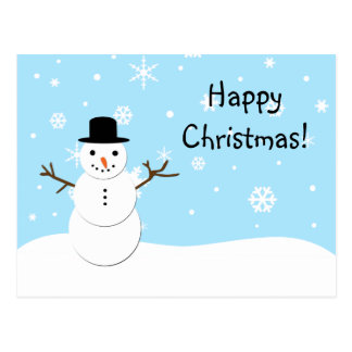 Jolly Snowman Christmas Postcard