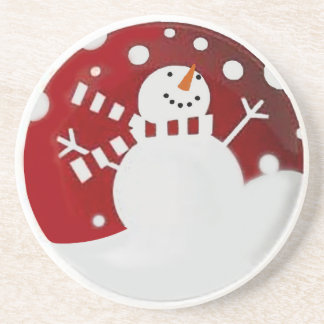 Jolly Snowman Drink Coaster