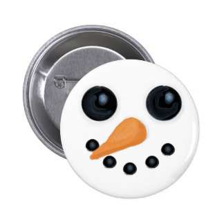 Jolly Snowman Face Button