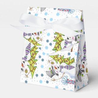 Jolly Snowman Gift Favour Box