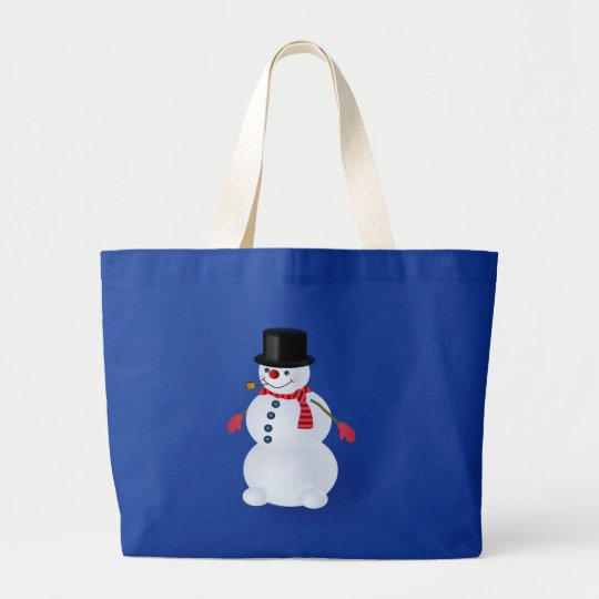 Jolly Snowman Grocery Tote Bag