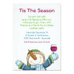 Jolly Snowman Holiday Cocktail Party Invitation